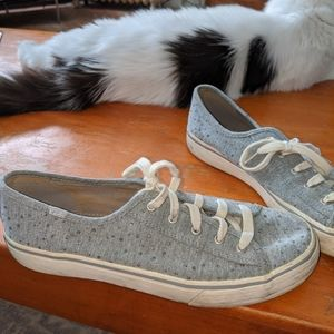 Gray Keds with Sparkles Size 8